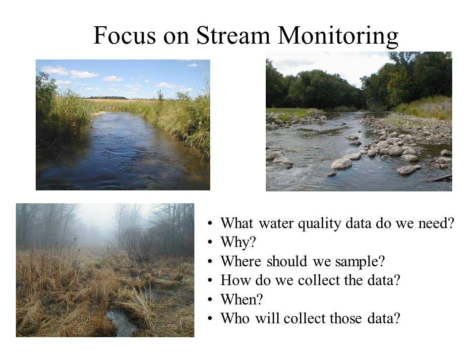 Focus on Stream Monitoring What water quality data do we need.