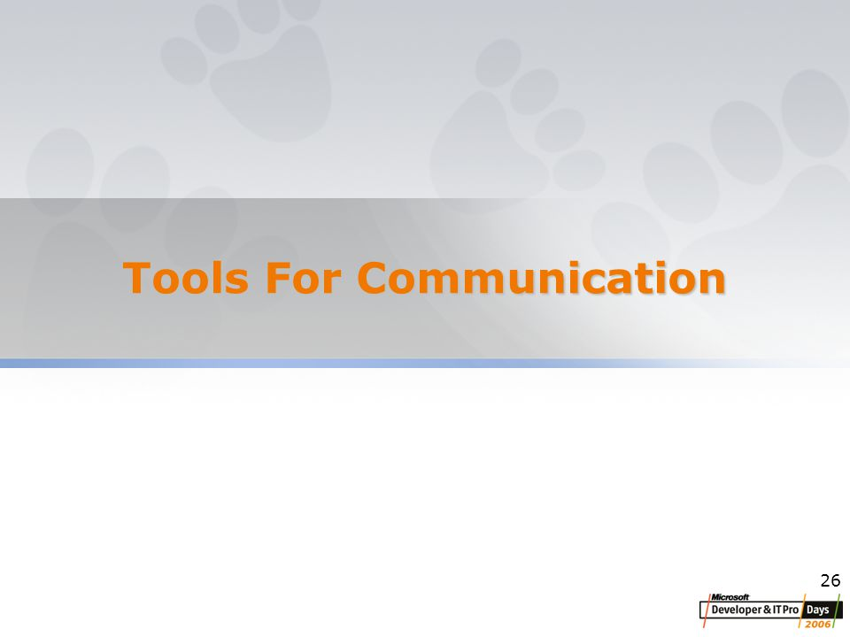 26 Tools For Communication