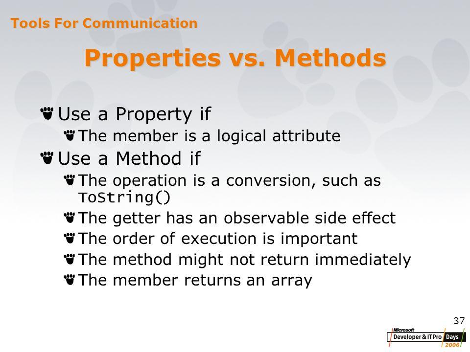 37 Properties vs.
