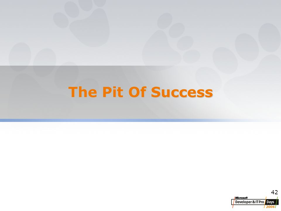 42 The Pit Of Success