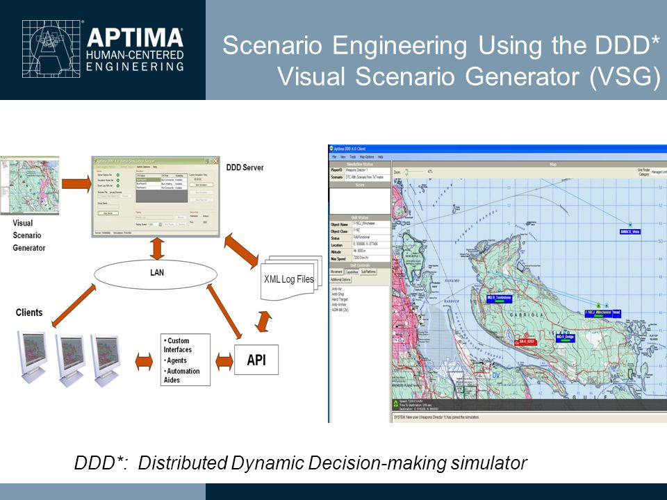 Scenario Engineering Using the DDD* Visual Scenario Generator (VSG) DDD*: Distributed Dynamic Decision-making simulator