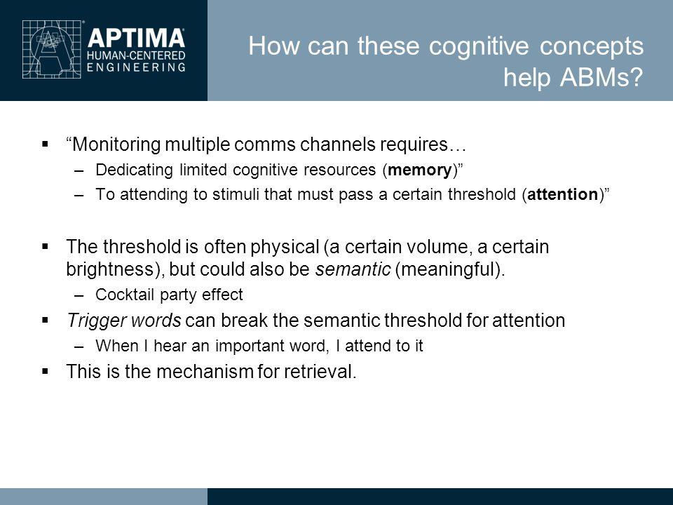 How can these cognitive concepts help ABMs.