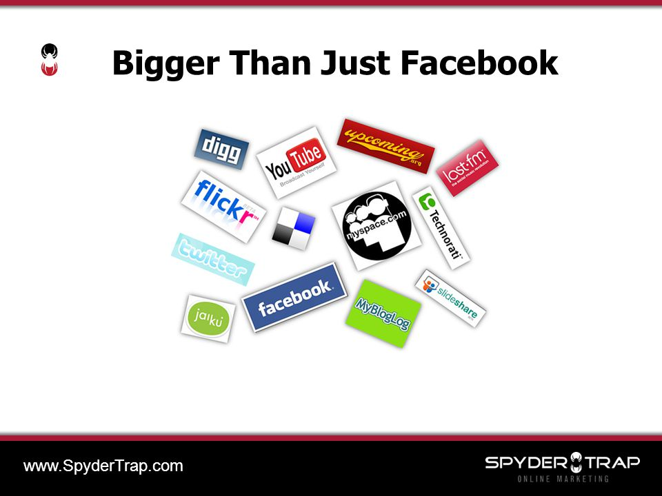 Bigger Than Just Facebook www.SpyderTrap.com