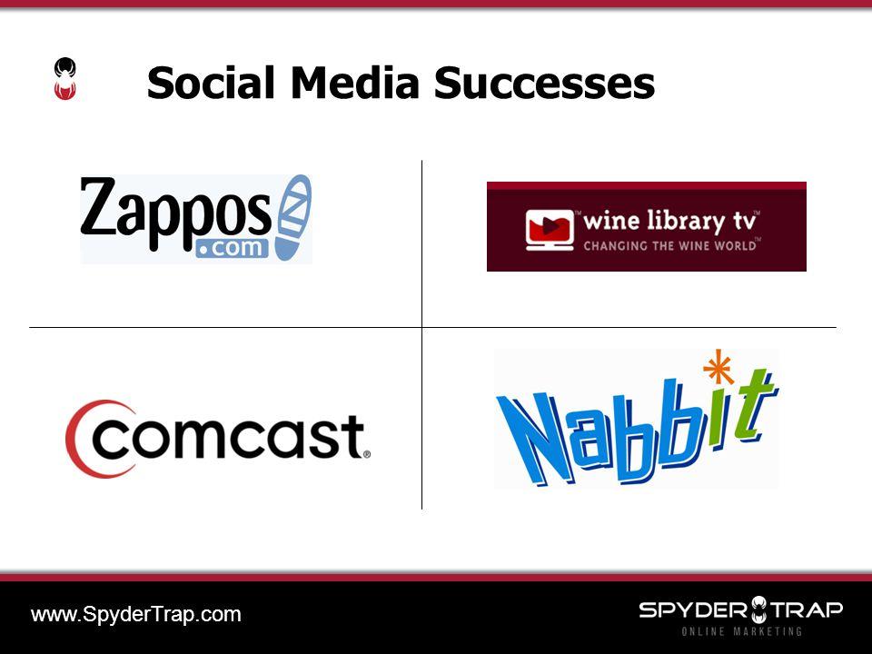 Social Media Successes www.SpyderTrap.com