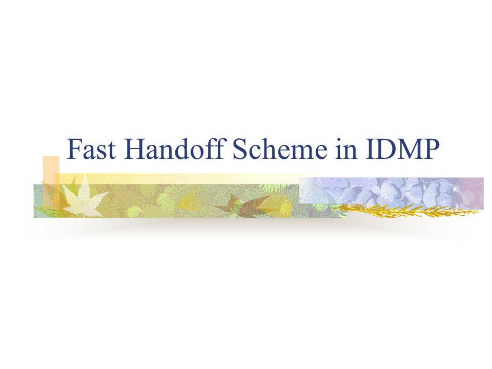 Fast Handoff Scheme in IDMP