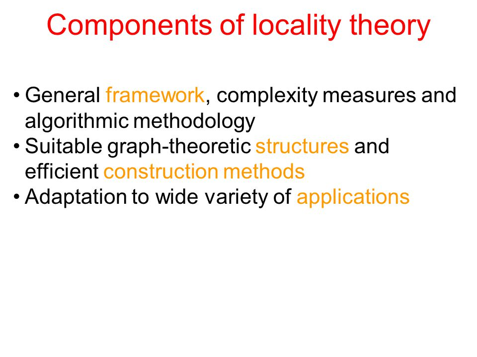 Part 3: Constructions and Applications Distributed construction of basic partition Fast decompositions Exploiting topological knowledge: broadcast revisited Local coordination: synchronizers revisited Hierarchical example: routing revisited Advanced symmetry breaking: MIS revisited