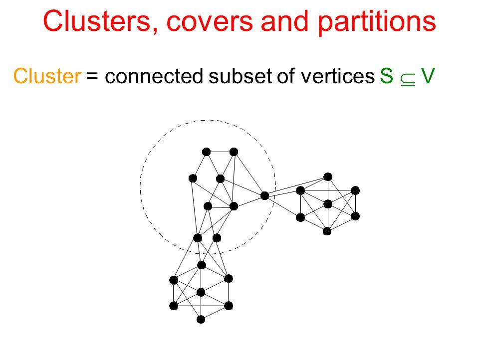 Summary  C pulse O( E ) O(n) O(n 1+1/k ) O(kn 1+1/k ) T pulse O(1) O(Diam) O(k) O(k) On a general n-vertex graph, for parameter k≥1: