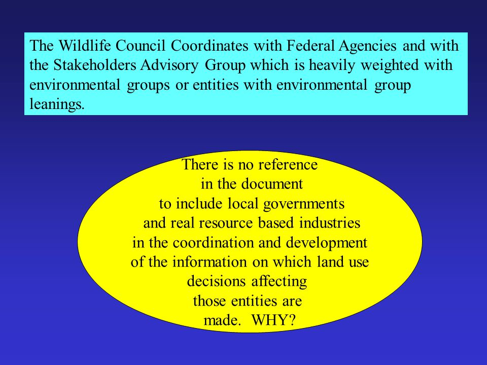 """Coordination with Federal Agencies """"This White Paper was developed in part to assist with coordination efforts with federal land management agencies t"""
