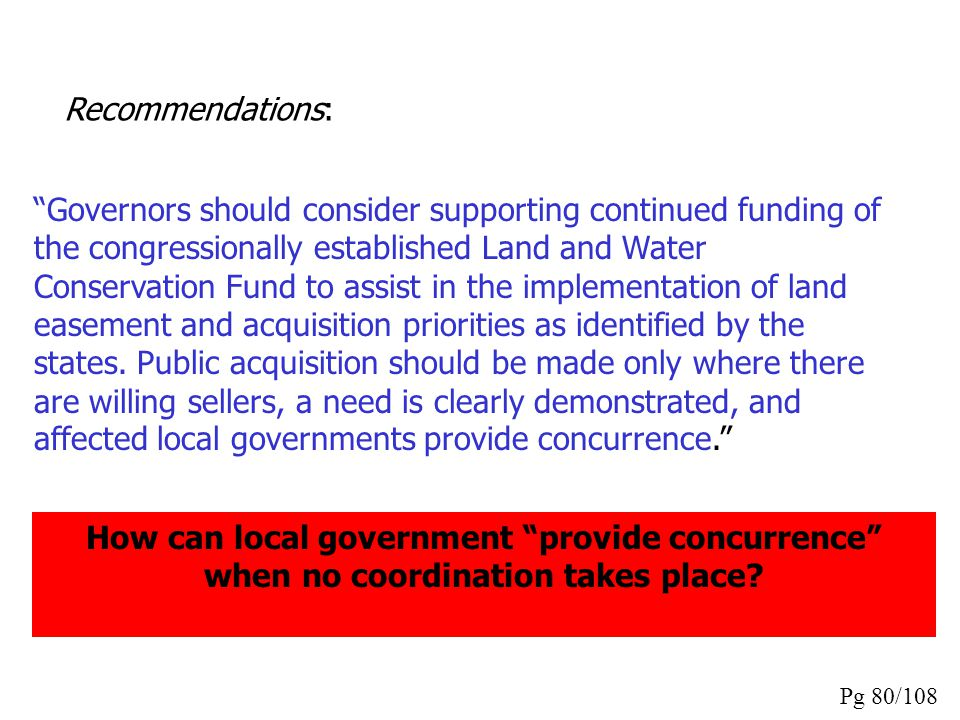 """""""Governors should consider adopting policies requiring that local governments planning new development consult with the state water resources agency a"""