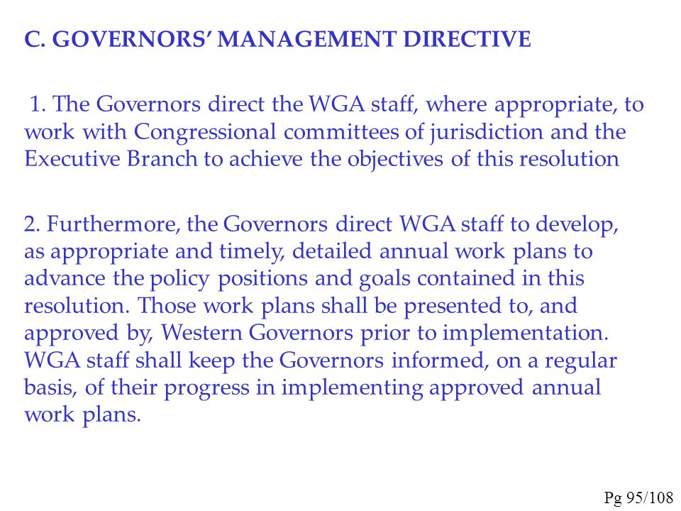 4. The Governors encourage widespread use of CHATs by industry, the public, and state and federal agencies. Decision- makers at all levels in the publ