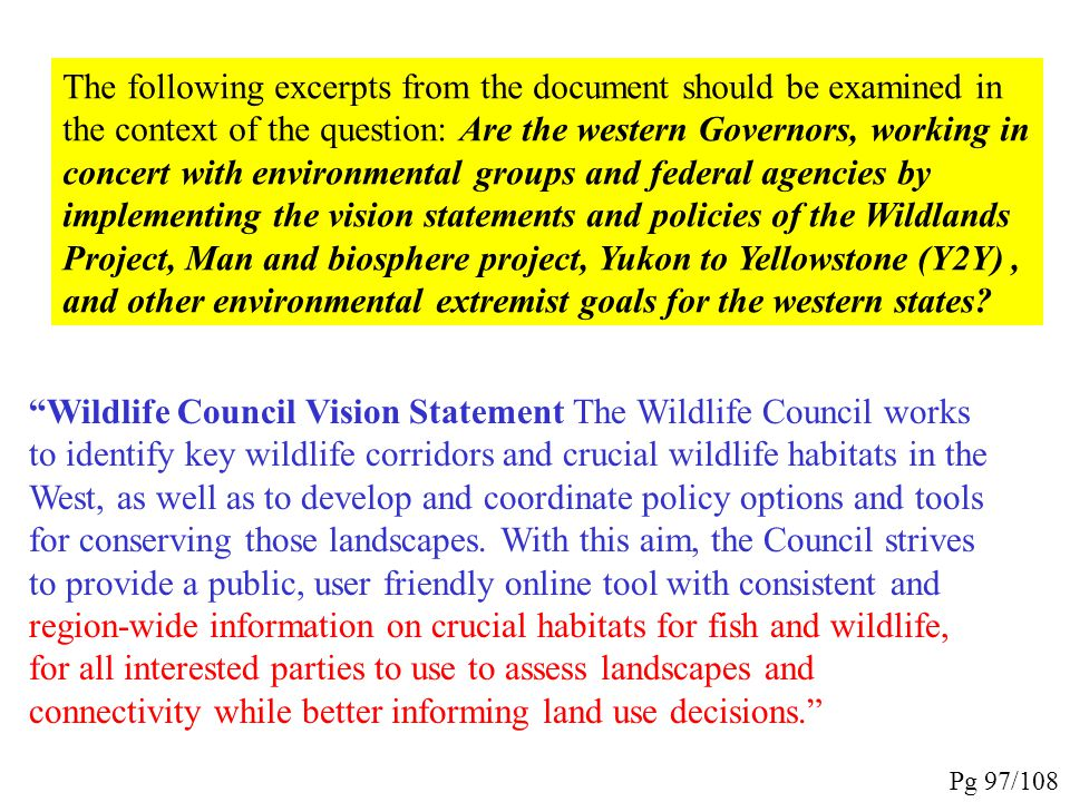 """""""Western Governors' Wildlife Council White Paper -Version III Western Wildlife Crucial Habitat Assessment Tool (CHAT): Vision, Definitions and Guidanc"""