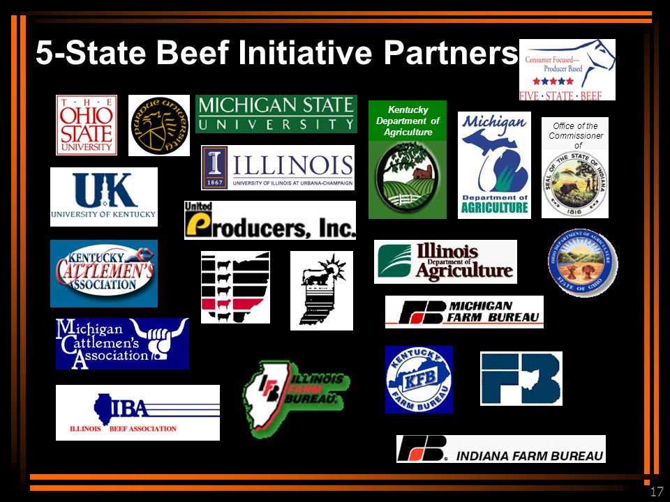 17 Kentucky Department of Agriculture 5-State Beef Initiative Partners Office of the Commissioner of Agriculture