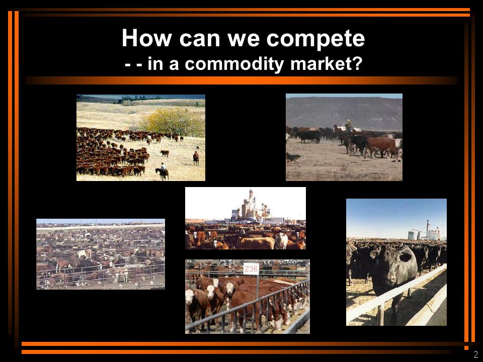 2 How can we compete - - in a commodity market?