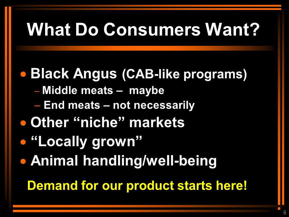6 What Do Consumers Want.