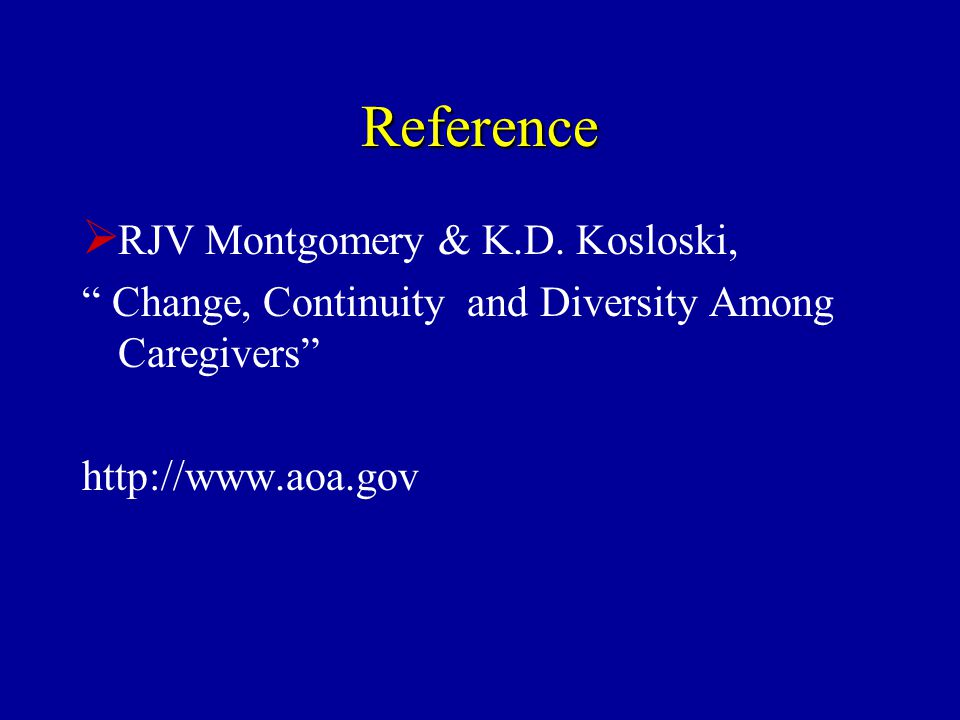 Reference  RJV Montgomery & K.D.