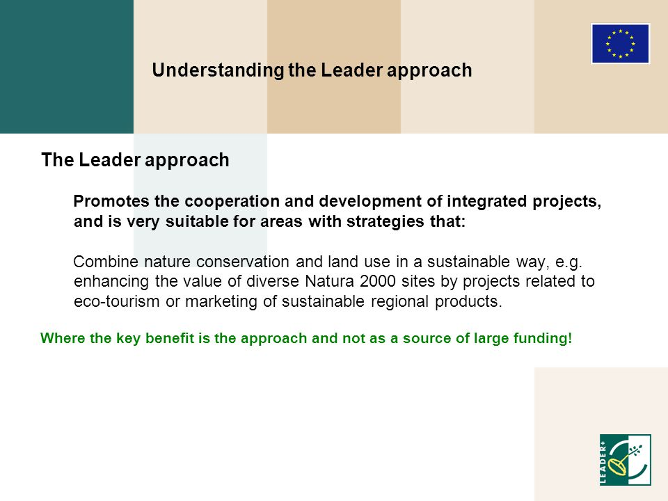 Specific Leader+ funded projects 1.