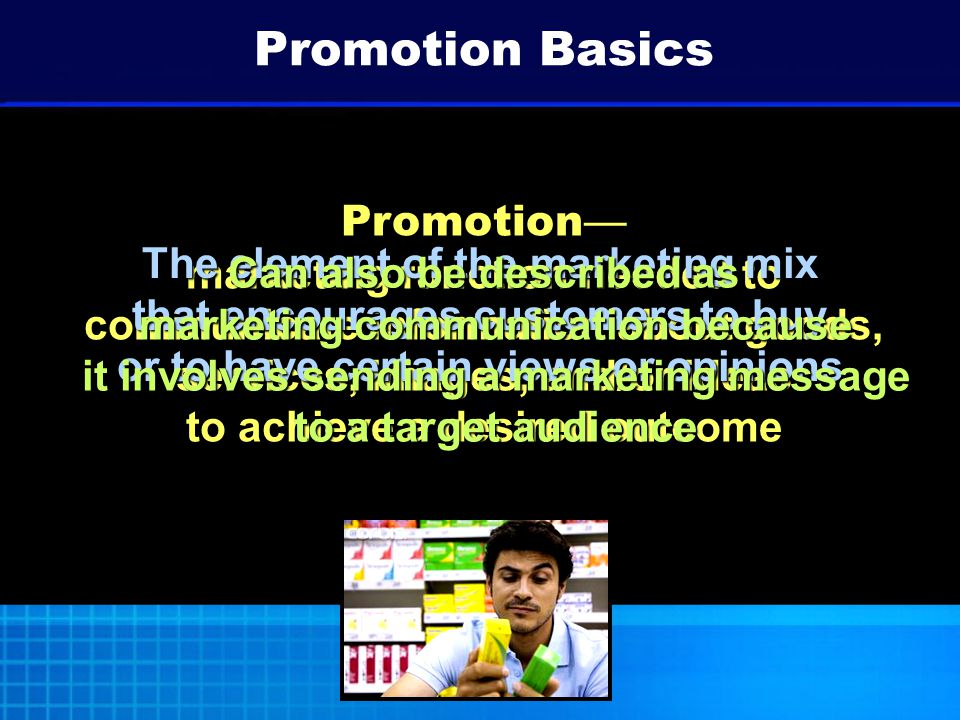 Objective Describe types of promotional objectives.