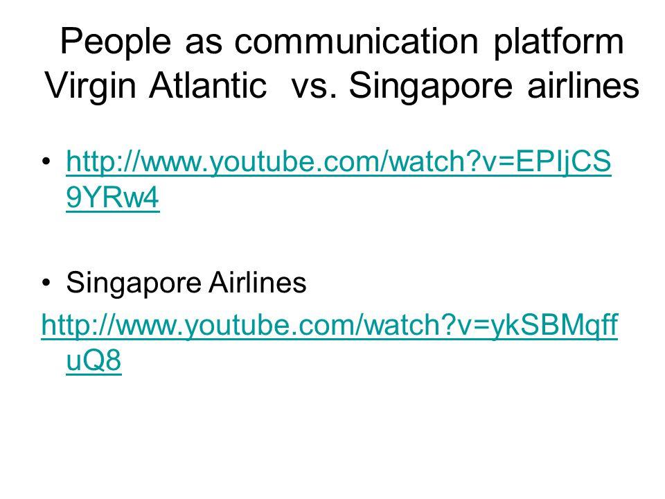 People as communication platform Virgin Atlantic vs.