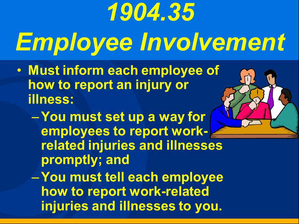 1904.33 Retention and Updating Retain forms for 5 years following the year that they cover. Update the OSHA Form 300 during that period. Do not need t