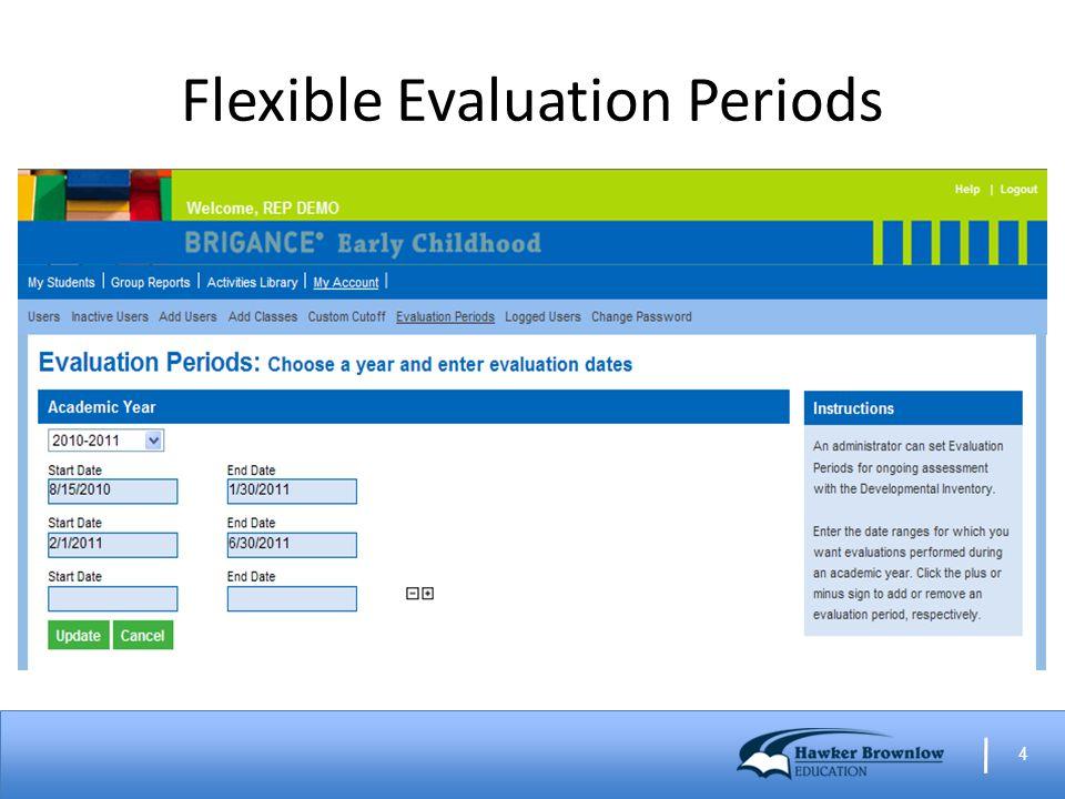 4 Flexible Evaluation Periods