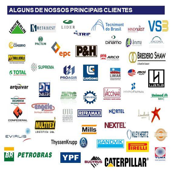 SEGMENTOS DE ATUAÇÃO ALGUNS DE NOSSOS PRINCIPAIS CLIENTES