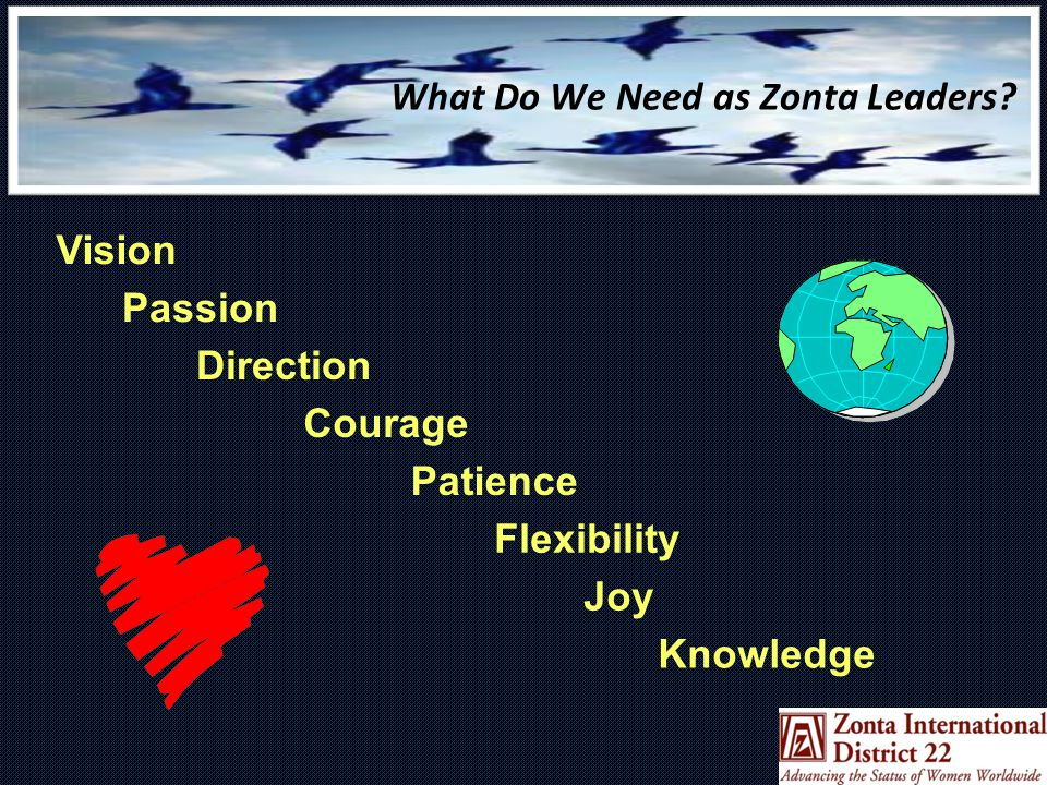 What Do We Need as Zonta Leaders.