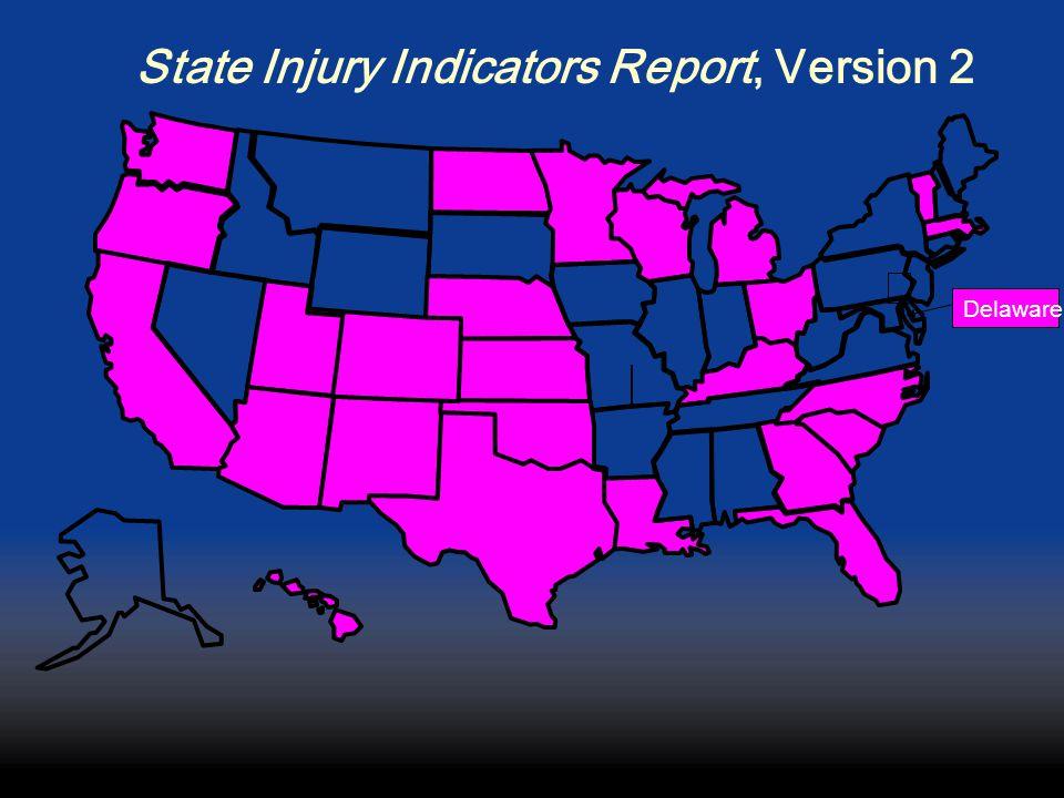 State Injury Indicators Report, Version 2 Delaware