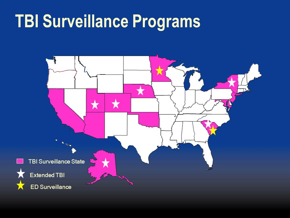 TBI Surveillance Programs TBI Surveillance State Extended TBI ED Surveillance