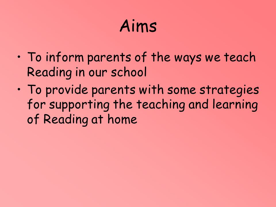 What do we mean by READING.