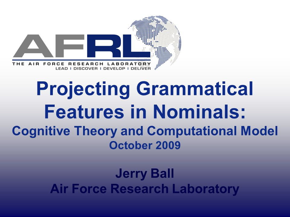 12 Representational Considerations Four primary grammatical functions in nominals (adapted from X-Bar Theory before functional heads): – Specifier Deteminers typically function as specifiers – the man – those men Quantifiers often function as specifiers – some men Possessive nominals/pronouns function as specifiers – the man's book – my book Important to distinguish grammatical function from POS or phrasal form!