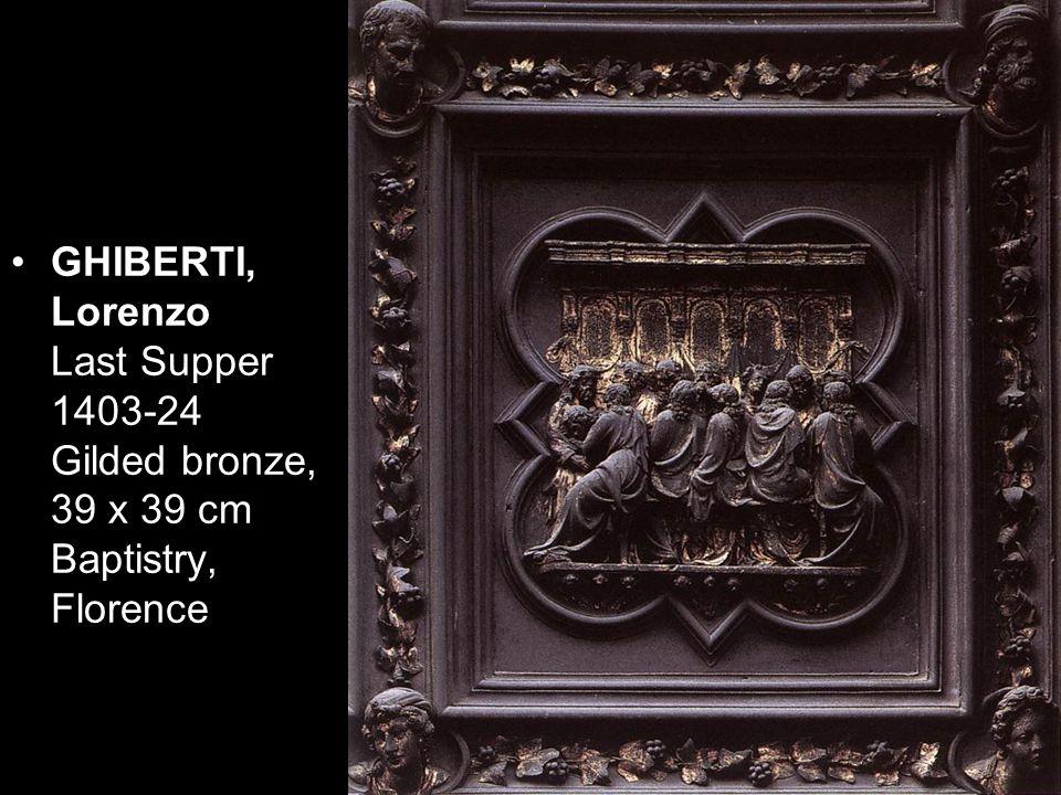 DONATELLO David (front view) c. 1430 Bronze, height: 158 cm Museo Nazionale del Bargello, Florence