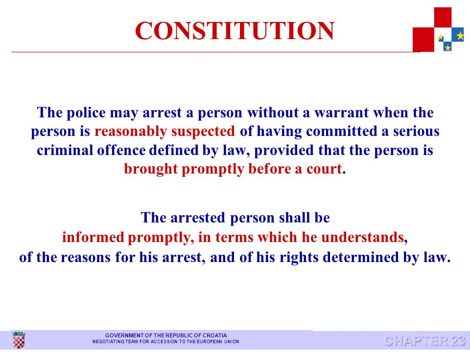 CONSTITUTION Freedoms and rights may only be restricted by law in order to protect freedoms and rights of others, public order, public morality and health.