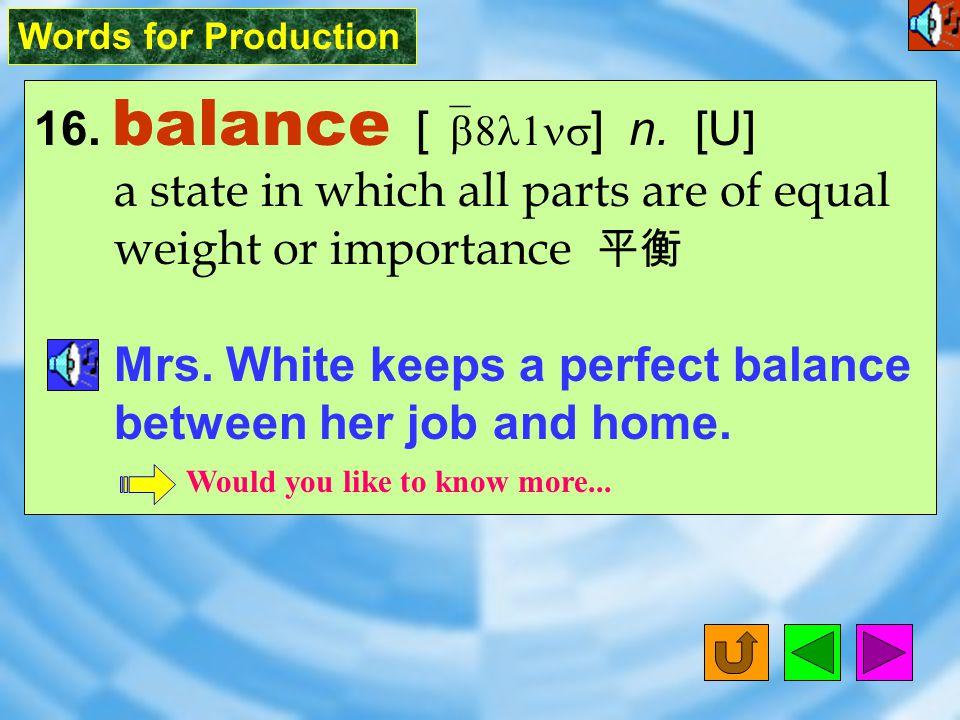 Words for Production 15. specific [ spI`sIfIk ] adj.