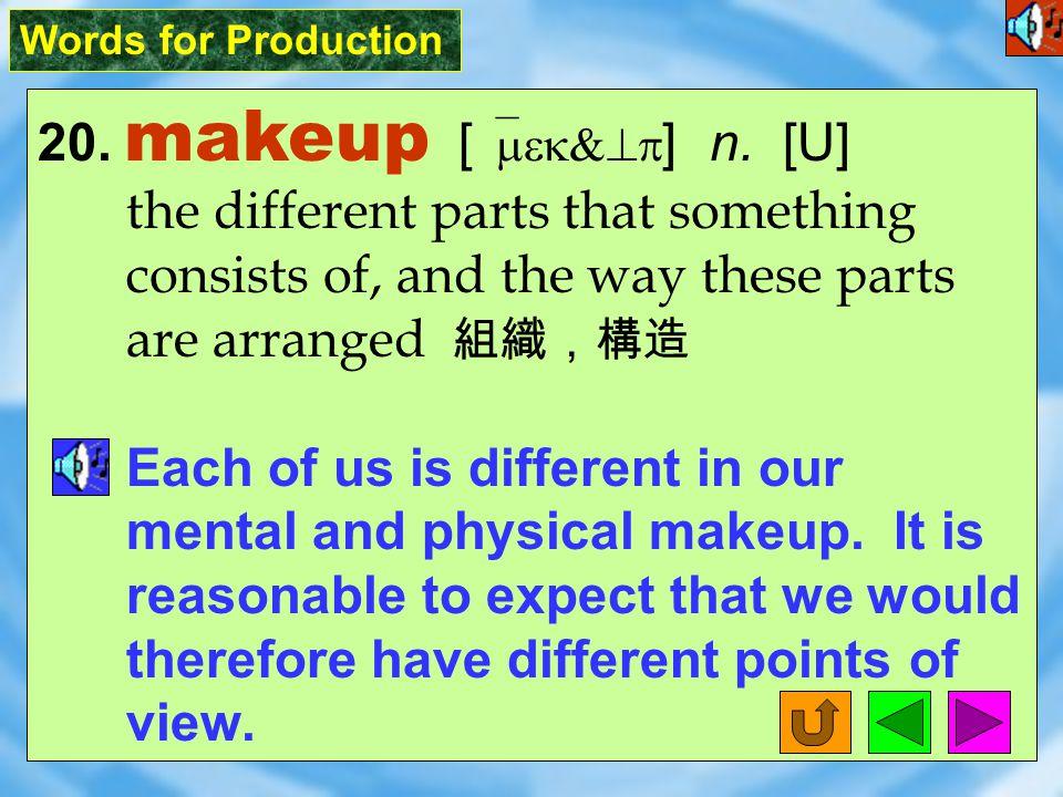 Words for Production 19. deprive [ dI`praIv ] vt.