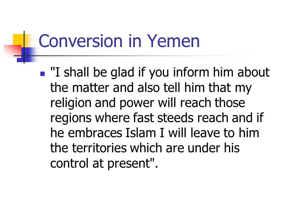 Conversion in Yemen