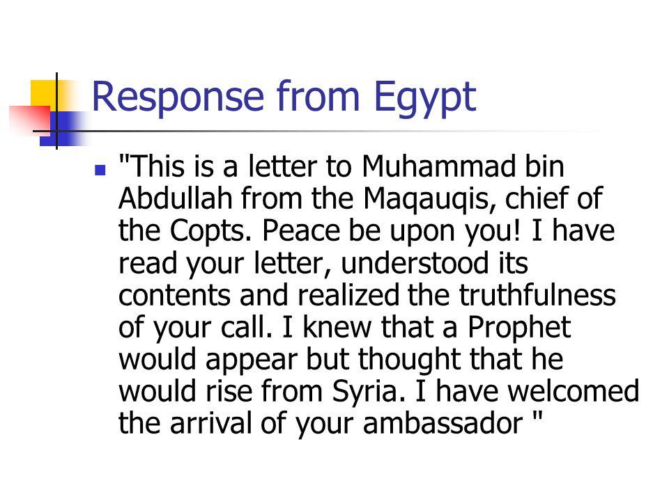 Response from Egypt