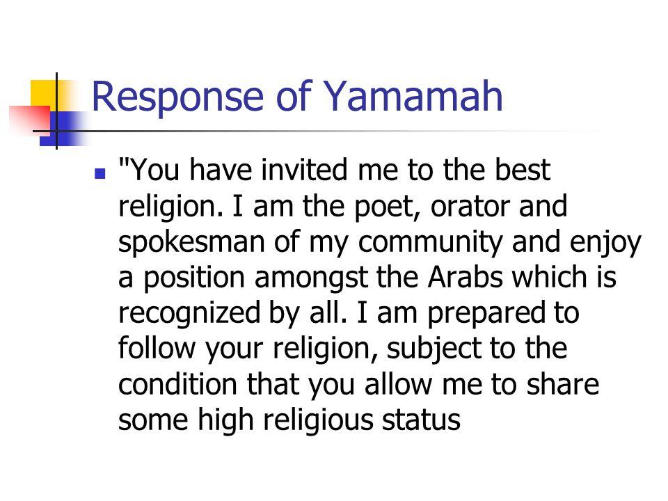 Response of Yamamah