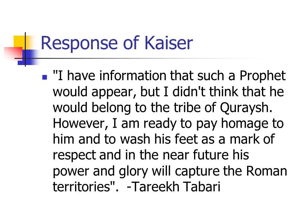 Response of Kaiser