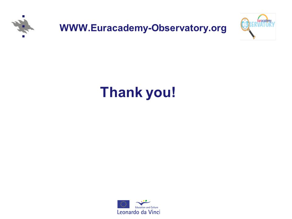 WWW.Euracademy-Observatory.org Thank you!