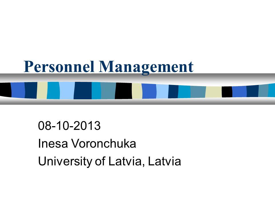 9. Thema. Personnel Involvement
