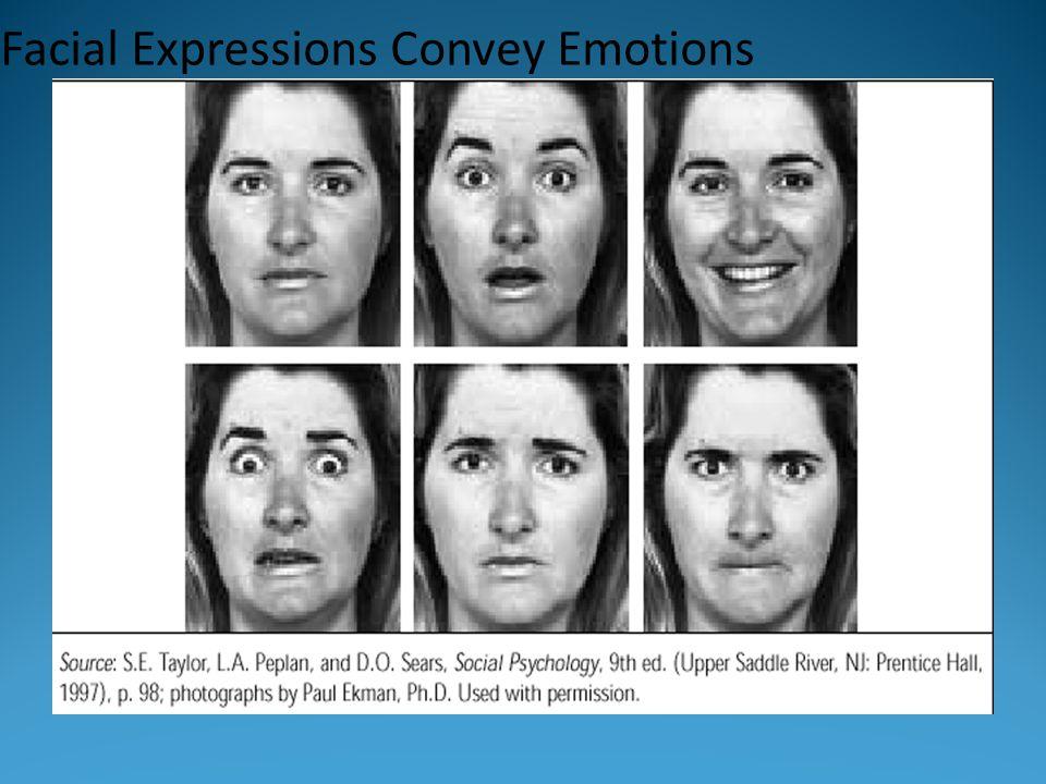 Facial Expressions Convey Emotions