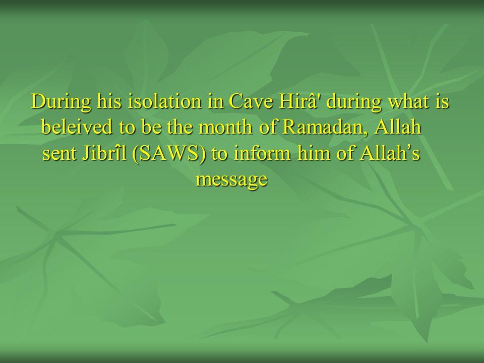 The Prophet (SAWS) informed him of what he had seen.