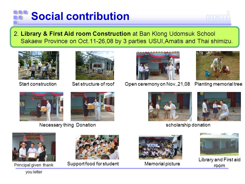 Necessary things donation Donation about 100,000 baht to support education for poor school.