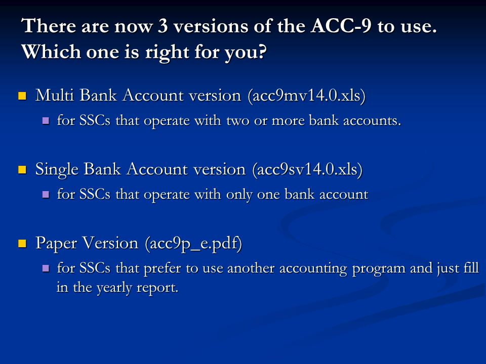 There are now 3 versions of the ACC-9 to use. Which one is right for you.