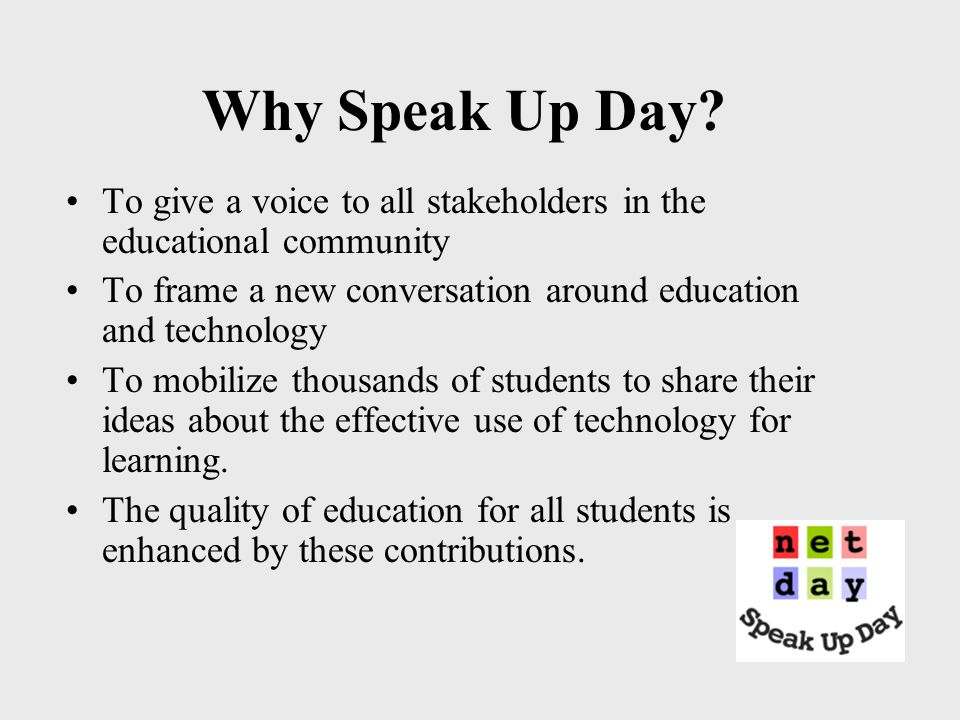 Speak Up Day Sponsors BellSouth Foundation and BellSouth Corp.