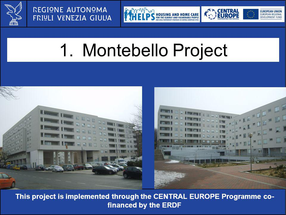 Al servizio di gente unica This project is implemented through the CENTRAL EUROPE Programme co- financed by the ERDF 1.Montebello Project