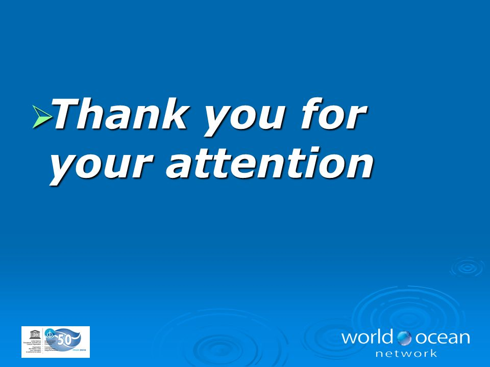  Thank you for your attention