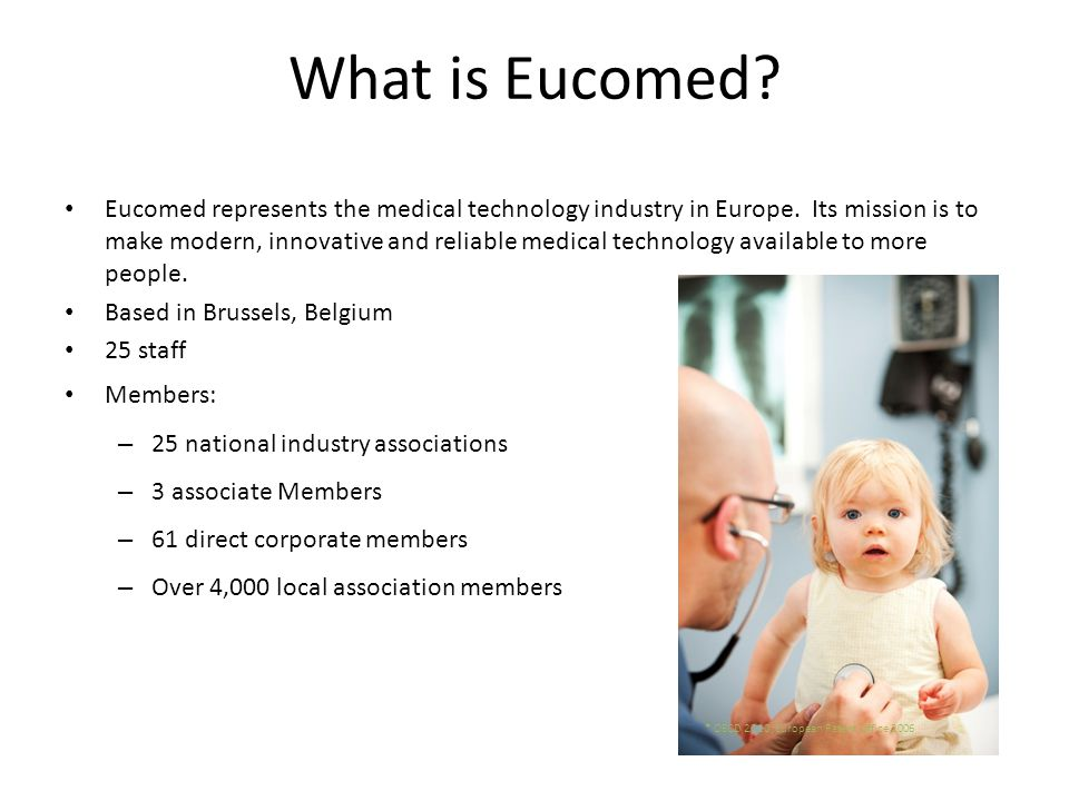 In September 2008 EUCOMED issued an updated code of ethics called the EUCOMED CODE OF BUSINESS PRACTICE (the EUCOMED Code ).
