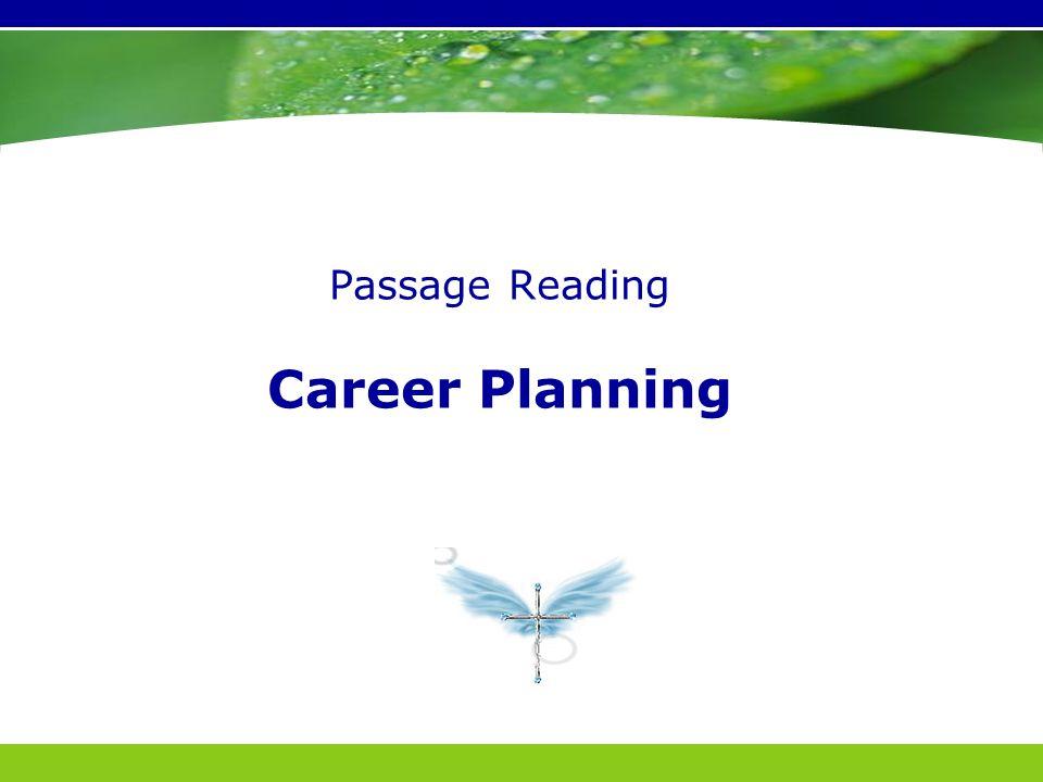 Passage Reading Career Planning