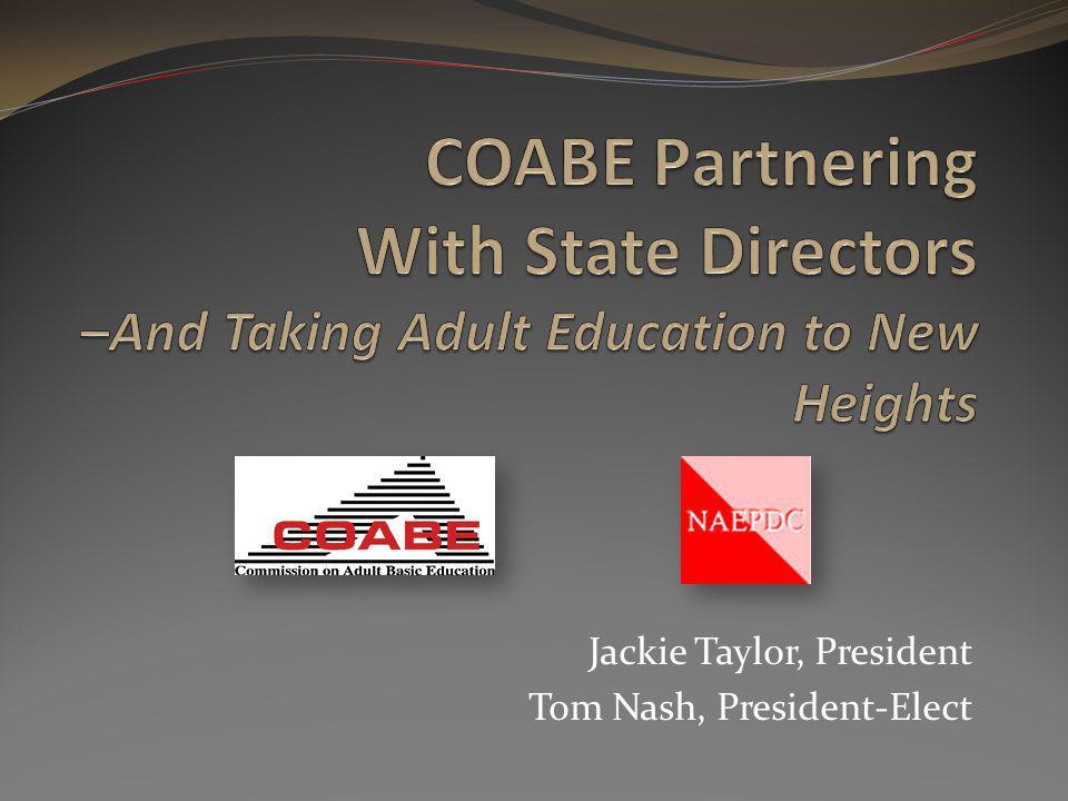 Jackie Taylor, President Tom Nash, President-Elect